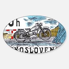 1975 Czechoslovakia Motorcycle Post Decal