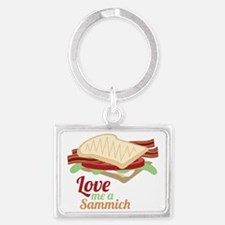 Love Me a Sammich Landscape Keychain