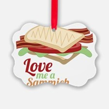 Love Me a Sammich Ornament
