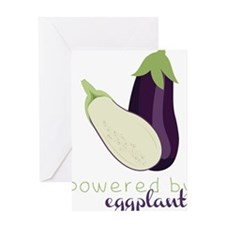 Powered By Eggplant Greeting Card