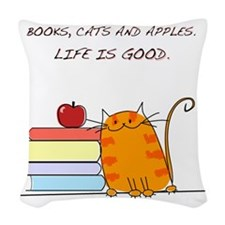 lifeisgood Woven Throw Pillow