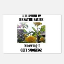 BREATHE EASIER QUIT SMOKING Postcards (Package of