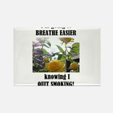 BREATHE EASIER QUIT SMOKING Rectangle Magnet