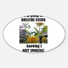 BREATHE EASIER QUIT SMOKING Oval Decal