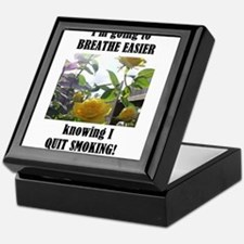 BREATHE EASIER QUIT SMOKING Keepsake Box