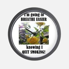 BREATHE EASIER QUIT SMOKING Wall Clock