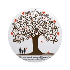 Infertility Family Tree Round Ornament