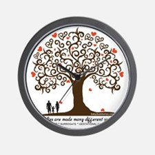 Infertility Family Tree Wall Clock