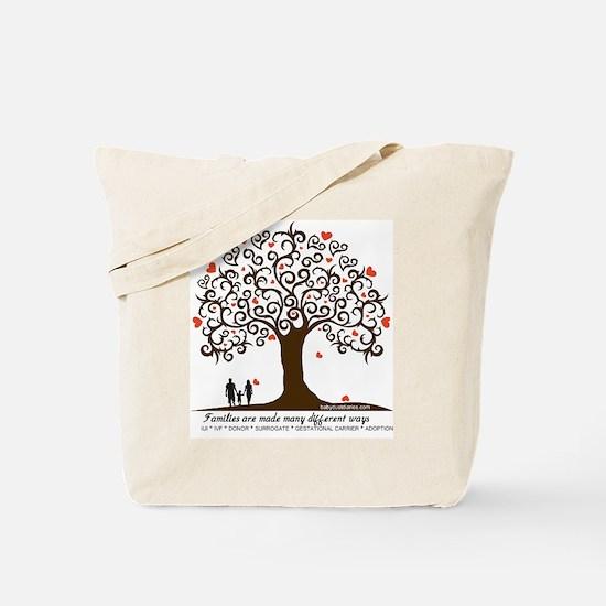 Infertility Family Tree Tote Bag