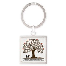 Infertility Family Tree Square Keychain