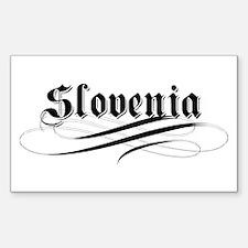 Slovenia Gothic Rectangle Decal