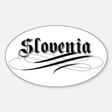 Slovenia Gothic Oval Decal