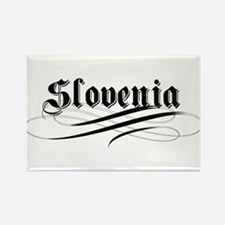 Slovenia Gothic Rectangle Magnet