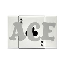 ACE - OF CLUBS! Rectangle Magnet