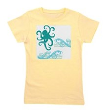 Octopus In The Sea Girl's Tee