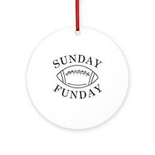 Sunday Funday Round Ornament
