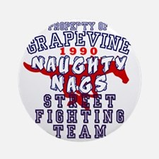 Grapevine 1990 Naughty Nags Round Ornament