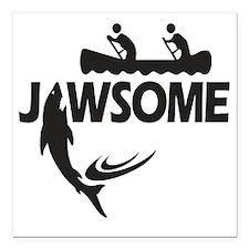"Jawsome Square Car Magnet 3"" x 3"""
