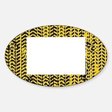 Tire Tracks Sticker (Oval)