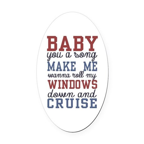 Cruise Oval Car Magnet