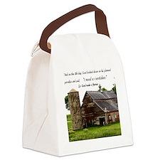 God Made a Farmer Canvas Lunch Bag