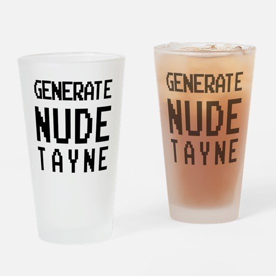 generate nude tayne Drinking Glass