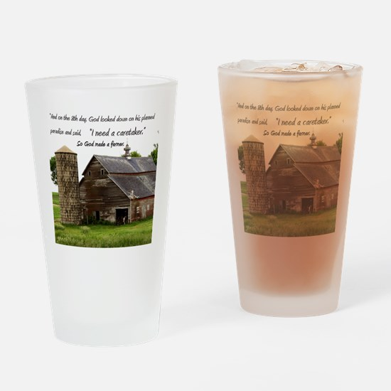 God Made a Farmer Drinking Glass