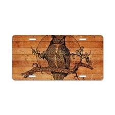 Great Horned Owl Aluminum License Plate