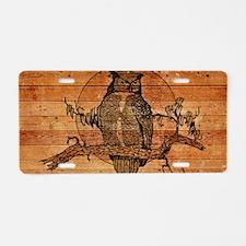 Great Horned Owl Aluminum License Plate