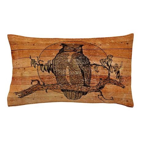Great Horned Owl Pillow Case