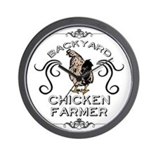Backyard Chicken Farmer Wall Clock