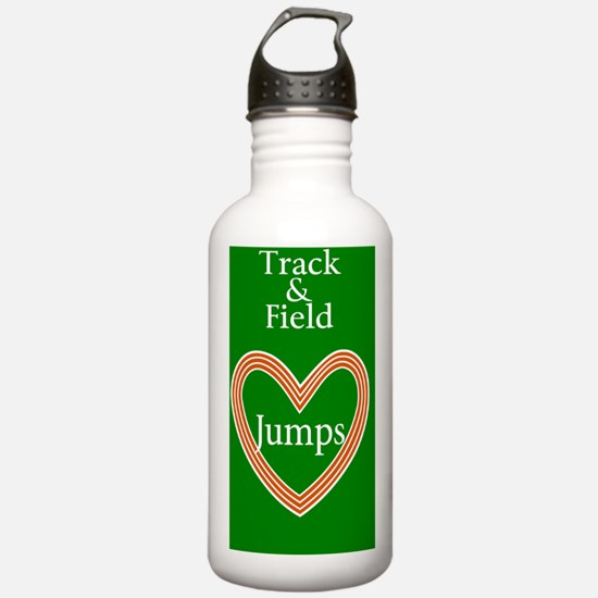 Track and Field Love J Water Bottle