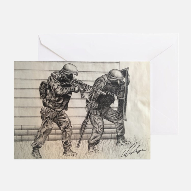 Police Tactics Greeting Card