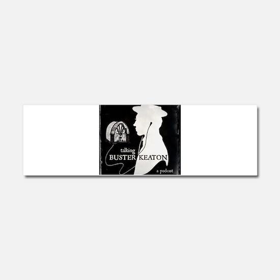 Talking Buster Keaton Logo Car Magnet 10 x 3