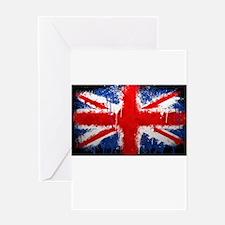British Union Jack Abstract by Jennifer Keefe Gree