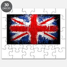 British Union Jack Abstract by Jennifer Keefe Puzz