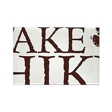 Take a Hike Paw Rectangle Magnet