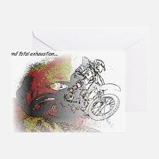 The Real Fun Begins Dirt Bike Motocr Greeting Card