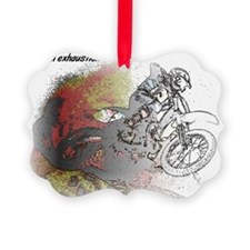 The Real Fun Begins Dirt Bike Mot Ornament