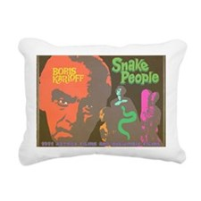 Snake People Rectangular Canvas Pillow