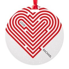 I Love Rachael Ornament