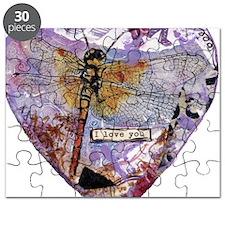 I LOVE YOU purple Puzzle