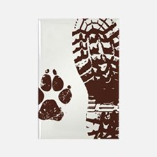 Boot n Paw Rectangle Magnet