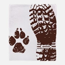 Boot n Paw Throw Blanket