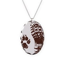 Boot n Paw Necklace Oval Charm