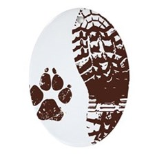 Boot n Paw Oval Ornament