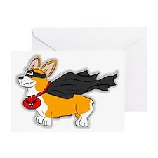 Corgi Super Dog Greeting Card