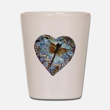 heart faith courage Shot Glass