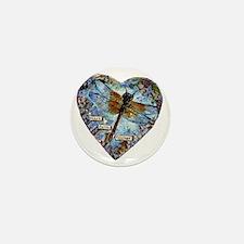 heart faith courage Mini Button