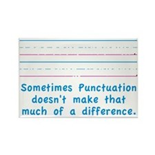 Punctuation Rectangle Magnet